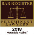 Bar Register Preeminent Lawyers 2018